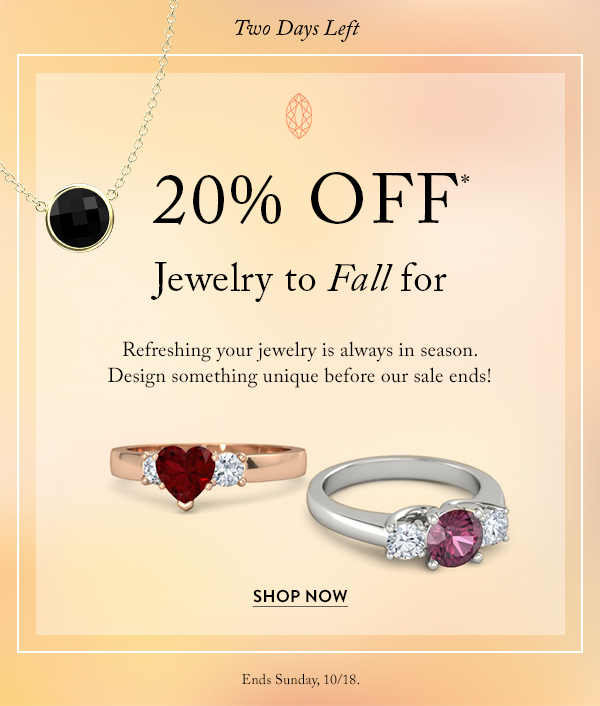 Fall in love with 20% off sitewide